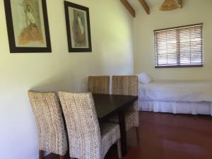 A seating area at Aotea Eco Bungalows