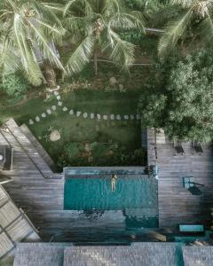 A view of the pool at Villa Kiri, Luxury Seaview Pool Villa in the Jungle or nearby