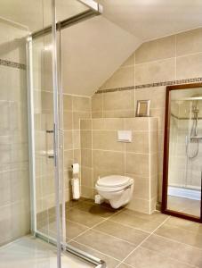 A bathroom at Wittgensteiner Landhaus Winterberg