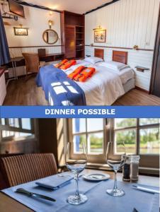Een restaurant of ander eetgelegenheid bij Boat Hotel De Barge