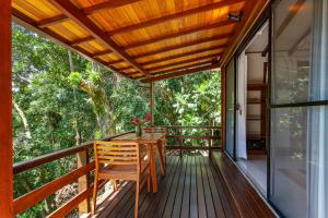 A balcony or terrace at Atlantica Jungle Lodge