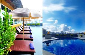 The swimming pool at or near Boutique City And Grand Day Hotel Pattaya
