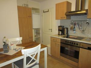 Küche/Küchenzeile in der Unterkunft Ferienwohnung Oben