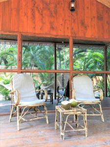 A seating area at Palm Forest Palolem
