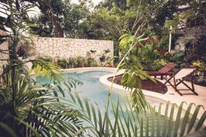 Het zwembad bij of vlak bij Hotel Aires Bacalar