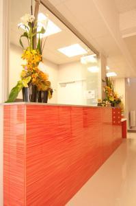 The lobby or reception area at Kangaroo Inn