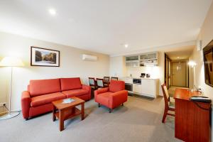 A seating area at RACV Hobart Hotel
