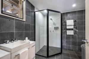 A bathroom at Pure Chalet Thredbo