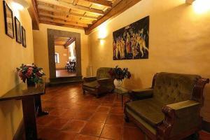 The lobby or reception area at Hotel Bavaria