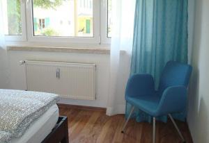 Ein Sitzbereich in der Unterkunft Ferienwohnung Reiche