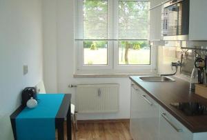 Küche/Küchenzeile in der Unterkunft Ferienwohnung Reiche