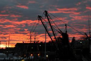 Вид на восход или закат из мини-гостиницы или места поблизости