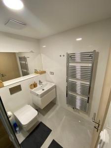 Koupelna v ubytování Hotel U Kabinky