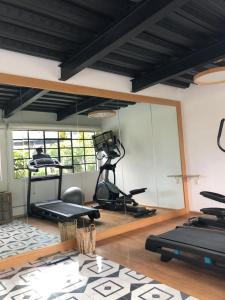 The fitness center and/or fitness facilities at Casa Decu