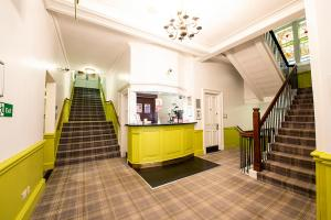 The lobby or reception area at Safestay Glasgow
