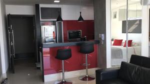 A cozinha ou cozinha compacta de Loft Barra