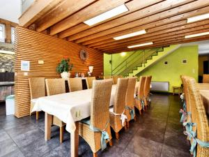 A restaurant or other place to eat at Beautiful Home in Amel with Sauna