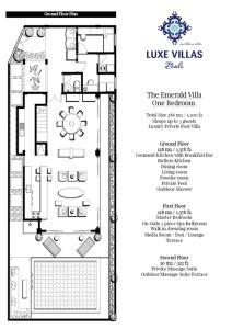The floor plan of Luxe Villas Bali