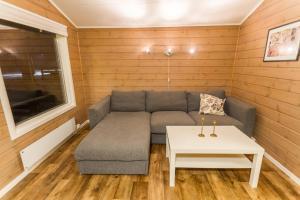 A seating area at Sveastranda Camping