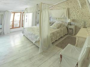 Un ou plusieurs lits dans un hébergement de l'établissement Domaine de Quittignan Brillette