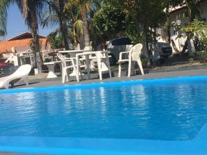 A piscina localizada em Pousada Aguas de Ibira ou nos arredores