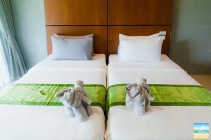 Ein Bett oder Betten in einem Zimmer der Unterkunft The Breeze