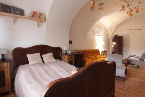 Posteľ alebo postele v izbe v ubytovaní Apartmán Tri Klenby