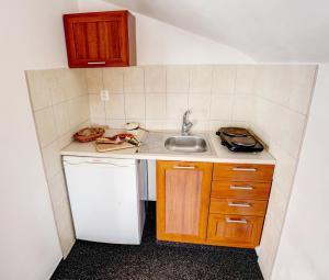 Kuchyňa alebo kuchynka v ubytovaní Hotel Koliba Greta