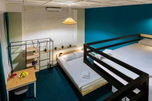 A bunk bed or bunk beds in a room at А.Kosterev Hotel Moscow