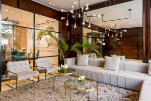 The lobby or reception area at CasaSur Recoleta