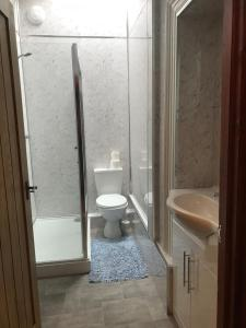 A bathroom at Penybryn Cottages