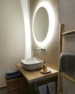 A bathroom at Ferienwohnung Dom- u. Regnitzblick