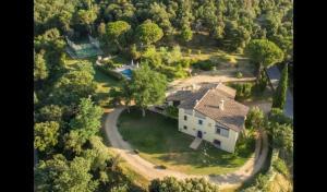 A bird's-eye view of Estanyol Villa Sleeps 14 with Pool