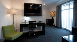 A television and/or entertainment center at The Abbott Boutique Hotel