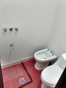 A bathroom at Hostal Carlos