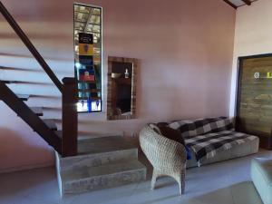 A seating area at Canto Caiçara Hostel