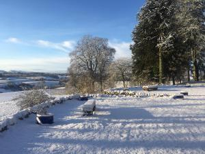 Meikle Kenny Farmhouse during the winter