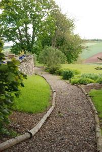 A garden outside Meikle Kenny Farmhouse