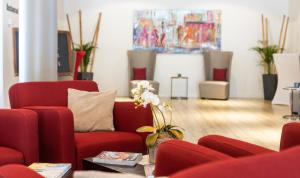 A seating area at Strandhotel Bene