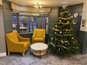The lobby or reception area at The Malvern Hills Hotel