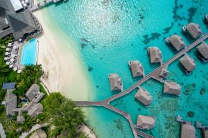 A bird's-eye view of Sofitel Kia Ora Moorea Beach Resort