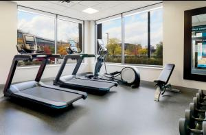 The fitness center and/or fitness facilities at Hampton Inn & Suites Pittsburgh Downtown