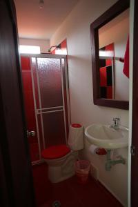 A bathroom at Hotel Reserva Aguamarina