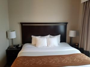 A bed or beds in a room at Comfort Suites Bloomsburg