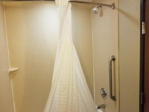 A bathroom at Comfort Suites Bloomsburg