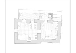 Planimetria di Tre Vie apARTment - Short Lets