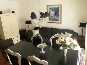Een zitgedeelte bij Apartment Seastar Zandvoort