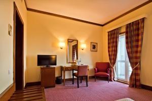 Uma televisão e/ou sistema de entretenimento em Golden Tulip Caramulo Hotel & Spa
