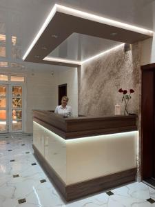 The lobby or reception area at Lileya Hotel
