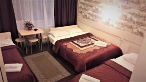 Кровать или кровати в номере Отель Голландия